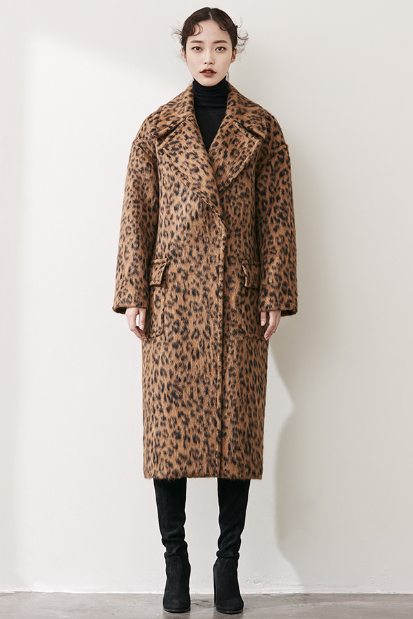 LEOPARD OVER SIZE COCOON COAT