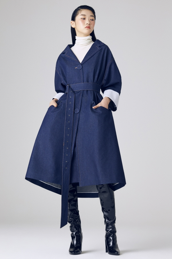 JAL DENIM TRENCH COAT