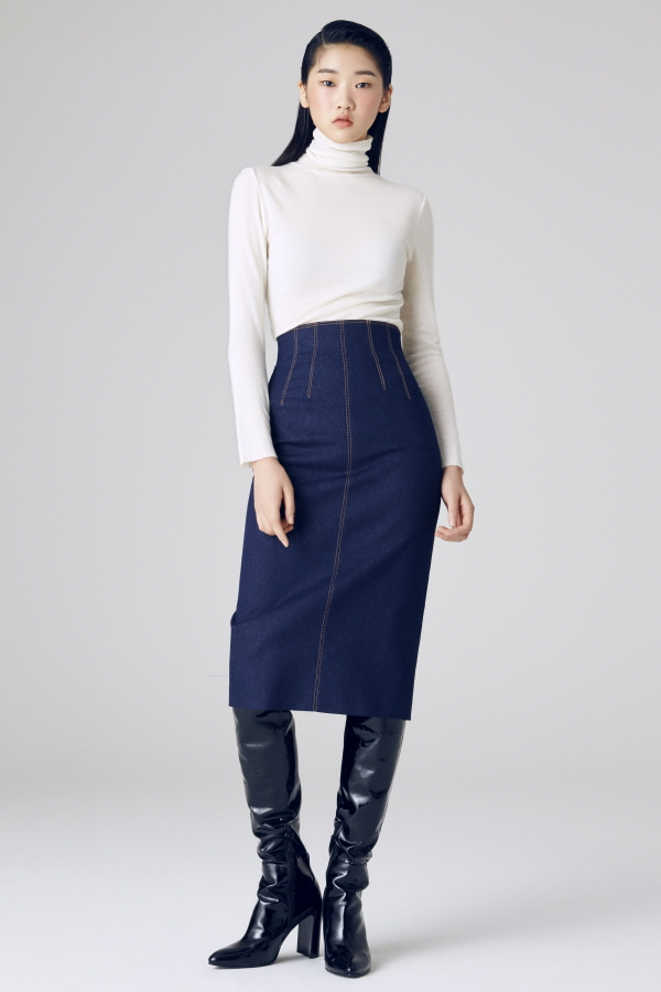 JAL DENIM PENCIL SKIRT