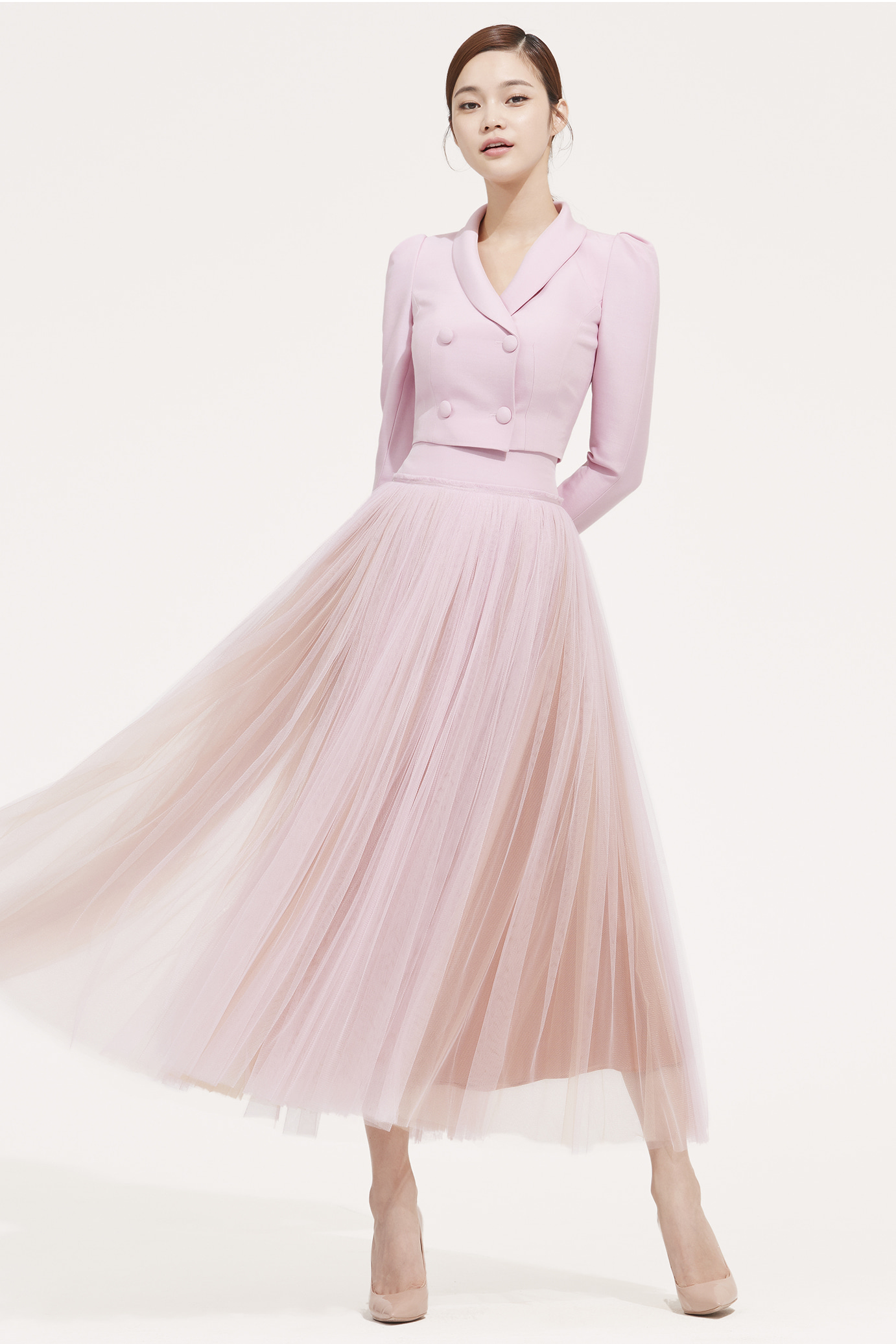 WOOL SILK YORK TULLE SKIRT