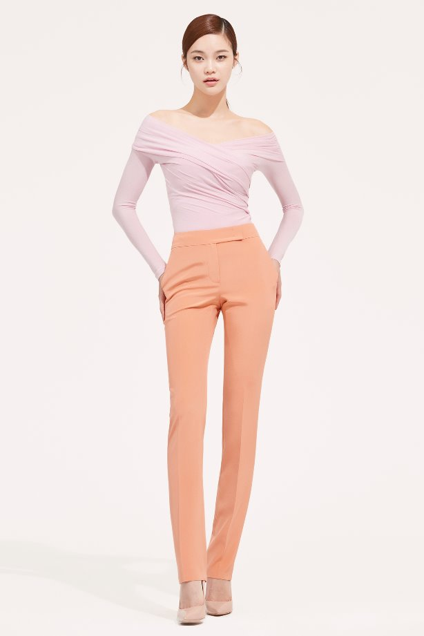 SLIM LINE ANKLE SILK PANTS