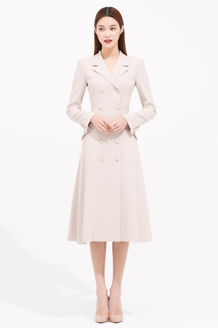 CREPE DOUBLE COAT DRESS