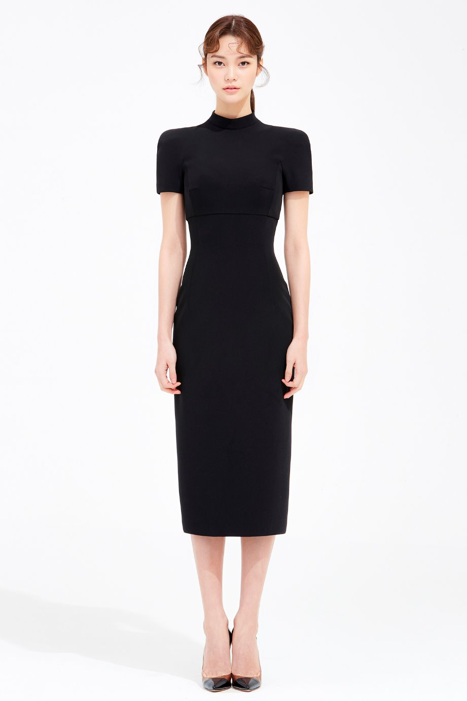 STAND COLLAR SLIM LINE DRESS