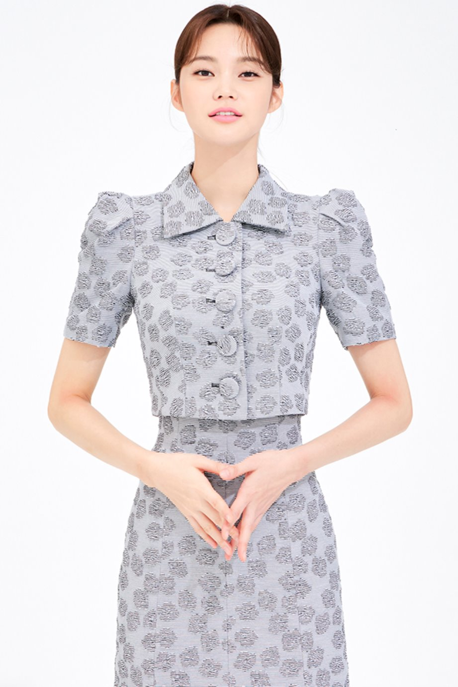 JAQUARD CROP SHORT SLEEVE JACKET