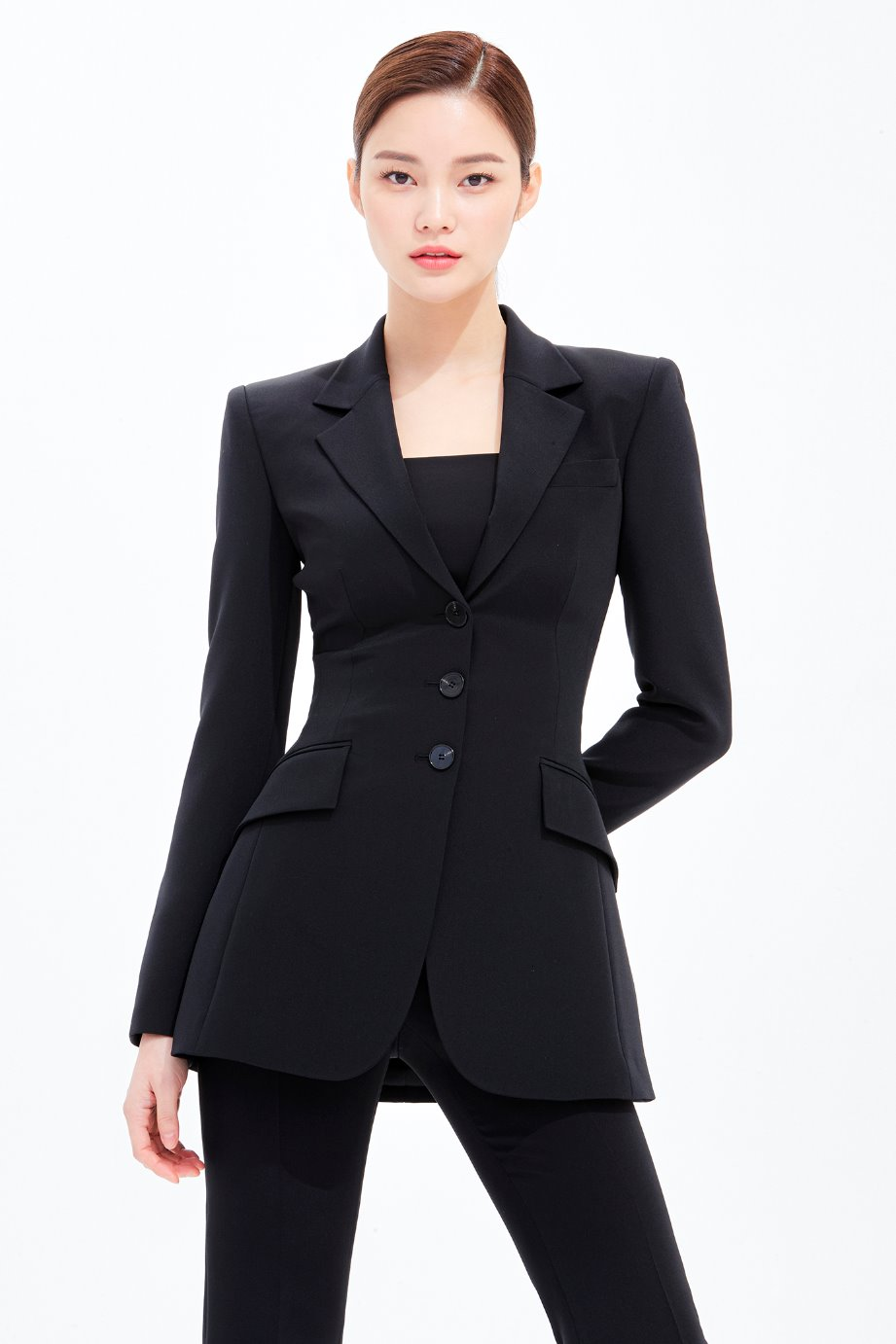 SILK SILM LINE SINGLE TAILORED JACKET