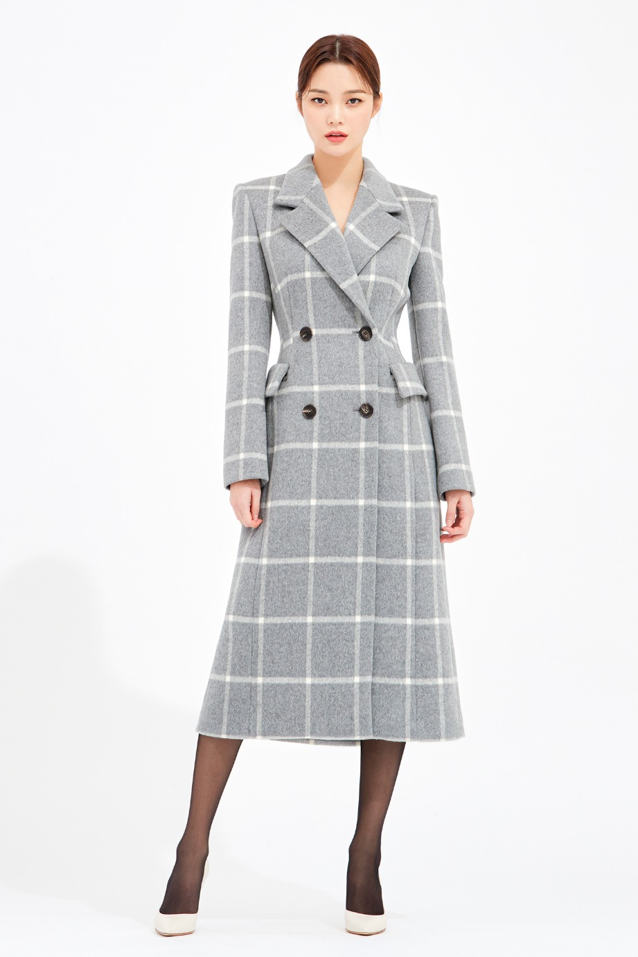 CASHMERE BLEND DOUBLE TAILORED COAT
