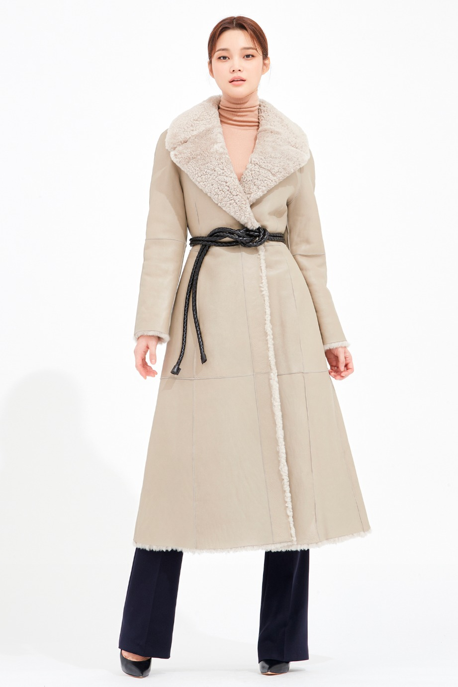 WIDE COLLAR REVERSIRBLE SHEARING COAT